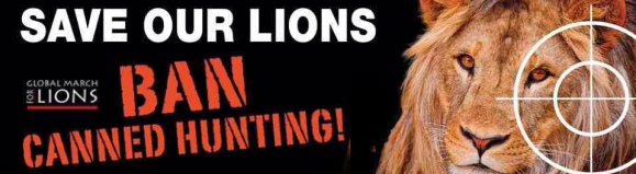 March for Lions stop canned hunting